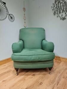 Green Armchair Chair Upholstery Project