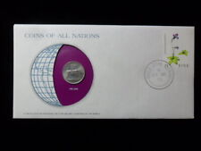IRELAND 5 PENCE 1976 ERIE Coins of All Nations Cover Stamp COA Franklin Mint