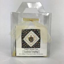 Sunflower Samplings Cross Stitch Teapot Scissor Fob Kit Gift