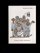 Netherlands WWII Anti Nazi Hitler Postcard New Quisling Uniform Germans c1945 4m