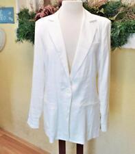 NEW Cabi 8 Everly Boyfriend Blazer White LS Pockets Lined 1 Button Style #724