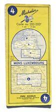 Carte MICHELIN n° 4 : Mons - Luxembourg, 1961 / Bergen - Luxemburg