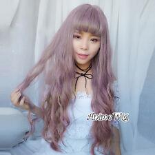 Lolita Long Milky Lavender Curly Hair Heat Resistant Women Cosplay Wig + Wig Cap
