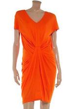 "Diane Von Furstenberg ""Kristina"" Grecian Style Dress Orange Size 14 UK rrp £370"