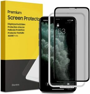 Privacy Screen Protector for iPhone 11 Pro XS X  3D Curved Edge to Edge Full Cov