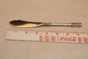 "Wallace Golden Aegean Weave Sterling Master Butter Knife - 7 1/4"" - No Mono"