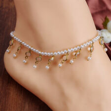 Fashion Jewelry Pearls Ankle Anklet Bracelet Sandal Beach Foot Chain