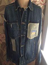 Homme Rocawear Denim Veste Manteau Bleu Coupe AMPLE M L Hip Hop Vintage 90 S