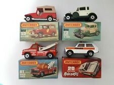 Matchbox - CJ-6 Jeep, Model A Ford, Wreck Truck, Police Patrol