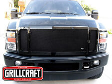 GrillCraft 08-10 Ford F250 F350 FX4 Black MX Upper Mesh Grille Grill 3PC Inserts