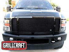 GrillCraft 08-10 Ford F250 F350 FX4 Black MX Upper Mesh Grille Grill 3PC Inserts