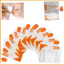 10 * Baby Food BUSTE BPA Free ammassatore pre-sterilizzati 4+ mesi con coperchio di tenuta