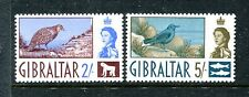 Gibraltar 157, 158 MVLH Birds: Barbary Partridge Blue Rock Thrush 1960   x16512