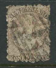 New Zealand 1871 QV Chalon Head 1d brown used
