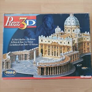 Puzz 3D St. Peter's Basilica Vatican By Wrebbit 966 Piece Jigsaw Puzzle - Used