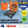 Bahco S106 Mechanical Socket Spanner Set 1/4 1/2 Inch Square Drive Ratchet Tool