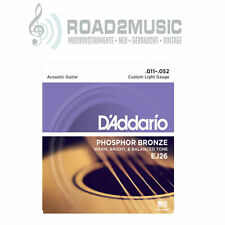 1 Satz Daddario EJ-26 Custom Light 11-52 Phosphor Bronze Akustikgitarre Saiten