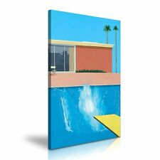 David Hockney A Bigger Splash 1967 Canvas Wall Art Picture 50x76cm