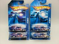 2006 Hot Wheels Collector 8 CRATE DarkBlue and Blue Lot of 4 FREE SHIPPING