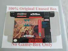 Shanghai 2, 100% Original Unused Box Only, SNES, Super Nintendo, Rare