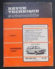 REVUE TECHNIQUE AUTOMOBILE RTA VOLKSWAGEN PASSAT RENAULT 16 TS n°337