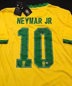 Neymar Jr. Brazil Autographed Signed Jersey XL COA