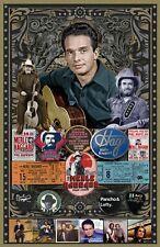"""Merle Haggard 11x17"""" Tribute poster - Vivid Colors! Deep blacks!"""