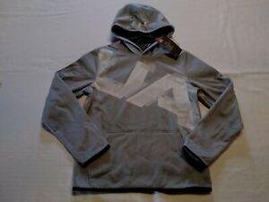 Under Armour  Boy  Performance Hoodie  ColdGear  Gray W/White Logo Sz-Large  NWT