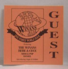 THE WINANS BEBE & CECE - VINTAGE ORIGINAL CONCERT TOUR CLOTH BACKSTAGE PASS