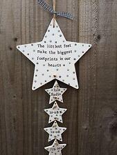 Handmade Personalised Plaque Door Sign Newborn Baby Nursery Gift Present