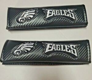 2PC NFL Philadelphia Eagles Embroidered Seat Belt Pads /Shoulder Pads Covers NEW