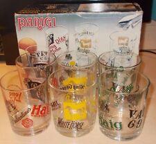 Rare Set of 6 Scotch Scottish Whisky Tumbler Glasses A Masserini Parigi 240ml