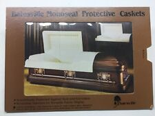 Batesville Casket Co. Monoseal Slide Out Stand Up Funeral Casket Advertisement