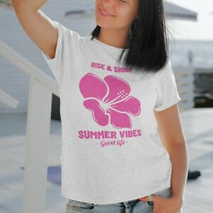 Rise and Shine Feel Good T-Shirt - Featuring Retro Graphic Printed Vegan Inks