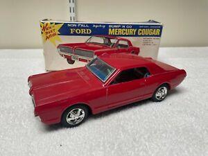 Taiyo Japanese Ford Mercury Cougar  Mystery Bump n Go Battery Op Car  1960's
