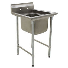 """Eagle Group 414-24-1 One 24"""" Bowl Stainless Steel Commercial Compartment Sink"""