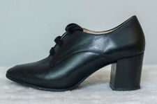 M&S Footglove Black leather smart /office/Business shoes UK 5.5 D fitting.VGC.