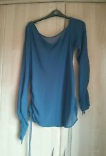 Dorothy Perkins Sheer Blue Tunic 18