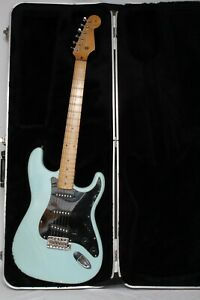 Vintage 1960's Japanese Lawsuit Stratocaster Style electric Guitar SeaFoam Green