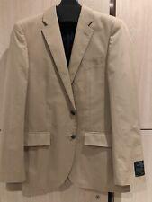 J Crew Men's Ludlow Slim Fit Suit Jacket Italian Stretch Chino Khaki Size 40R