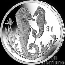 2017 SEAHORSE - CuNi Copper Nickel UNC One Dollar Coin British Virgin Islands $1