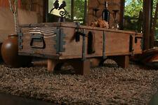 Alte Truhe Kiste Tisch shabby chic Holz Beistelltisch Holztruhe Couchtisch 120