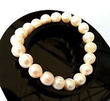 Bracelet en Perle de Culture Lithothérapie Minéraux Bijoux en Nacre Naturelle