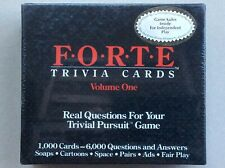 Trivial Pursuit Extra Trivia Cards by Forte - 6,000 Questions - NEW