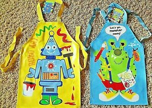 Tabards Aprons Robot or Monster Waterproof Cook- Paint Craft Wipe Clean Boy Girl