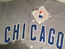 Chicago Cubs Jersey Large Gray Road Away Jersey MLB Majestic Brand Polyester