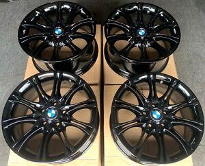 """Genuine BMW MV2 135M 18"""" Alloy Wheels: Gloss Black E60 E61 E90 E91 E92 E93"""
