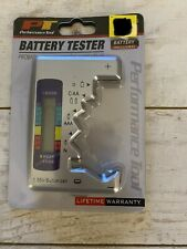 Portable Battery Tester for Small Batteries Aa, Aaa, C, D, & 9V