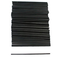 100X Black Plastic Mini Cocktail Straws For Celebration Drinks Party SupplieM&A!