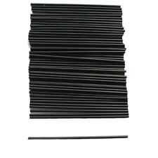 100X Black Plastic Mini Cocktail Straws For Celebration Drinks Party Supplies EW